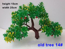 14# ABS plastic Trees Model with red fruit 3D model making  Train Scenery Landscape Scale  15cm