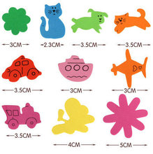500PCS/LOT.vehicle animal flower foam stickers,Kids toy.Scrapbooking kit.Early educational DIY.Cheap.kindergarten craft(China)