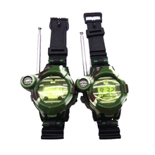 2pcs/lot Powerful Watch Walkie Talkie 2016 New 7 in 1 Military wrist freetalker high powered long rang Walkie Talkies toy kids