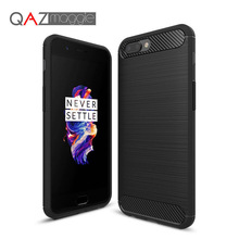 OnePlus 5 Case 5.5 inch Silicone Soft TPU Brushed Carbon Fiber Texture Case for Oneplus 5 A5000 Phone Protective Cover