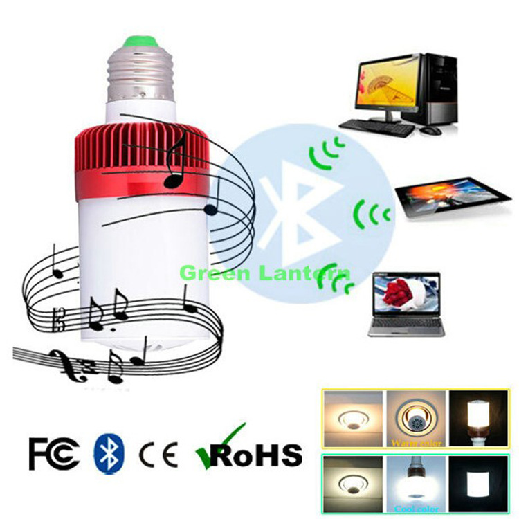Bluetooth Speaker LED wireless APP Sound bulb BB Speaker Bluetooth Wireless Mini music light<br>