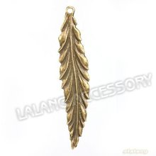 60X Beautiful Leaf Shape Charm Pendant  Zinc Alloy Antique bronze Plated Jewelry Finding Fit Jewerly  DIY 55*11*1mm142356