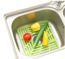 Drain the sink device protection board DIY Drain fruit and vegetable stand freely combine a variety of colors(China)
