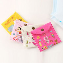 Cotton and linen fresh restore ancient ways childhood health cotton bag Korean creative lovely sanitary napkin bag the cloth