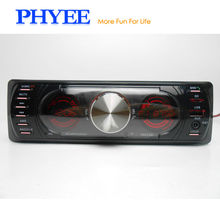 1 Din Double LCD Car Radio Bluetooth Stereo Audio MP3 USB SD A2DP Handsfree 7 Colors Lighting