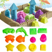 6Pcs Pyramid Sand Castle Clay Mold Building Model Beach Toys for Kids Child Baby  #T026#