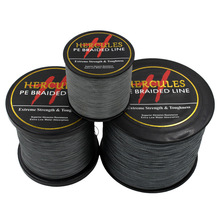 Hercules PE Braided Fishing Line Gray Grey Multifilament Fishing Cord Strong 4 Strands 100M 300M 500M 1000M 1500M 2000M Fishing(China)