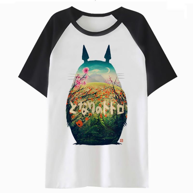 Camiseta de Totoro bicolor de manga corta 1