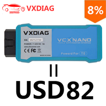 VXDIAG VCX NANO for TOYOTA Diagnostic-tool TIS Techstream V12.00.127 Compatible with SAE J2534 WIFI / USB Version