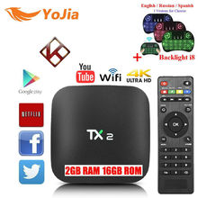 VONTAR TX2 R1 R2 Android 6.0 TV BOX RK3229 1GB/2GB 16GB Opitional H.265 60tps 2.4GHz WiFi BT2.1 Media Player IPTV Box TX2 R1 R2(China)