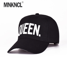 MNKNCL Hot Selling King Queen Letter Embroidery Baseball Cap Couples Hip Hop Snapback Cap for Man Hat Women bone aba reta gorr(China)
