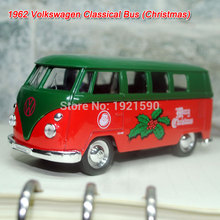 6pcs/lot WELLY 1/36 Scale Germany Christmas Edition 1962 Volkswagen Bus Diecast Metal Car Model Toy New In Box(China)