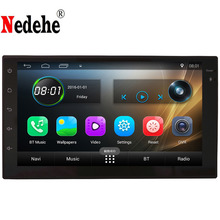 Nedehe Quad Core 7 inch 1024*600 IPS screen Universal 2din Android 6.0 Car DVD player GPS car radio stereo+Bluetooth+Mirror link(China)