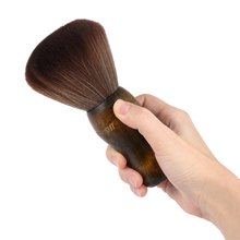 KUDOUSHI Barber Neck Duster Hair Cutting Brush Professional Wooden Handle Salon Hair Removal Brushes Natural Fiber Hairbrush(China)