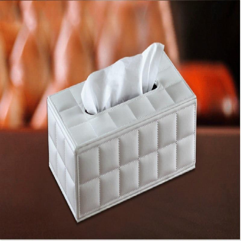 Creative leather paper box, European style home paper box, paper box<br>