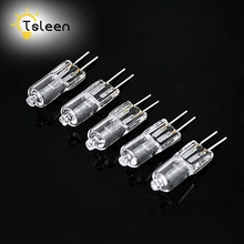 TSLEEN 40Pcs/Lot Mini Super Bright G4 Halogen Lamp Light Bulb 20W Halogen G4 DC 12V Indoor Clear Halogen G4 Lamp(China)