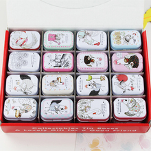 New Hot Cute Chicken Mac Cosmetic Box Small Tin Storage Box Small Things Tea Pill Candy Case Jewelry Organizer 32Piece/Lot