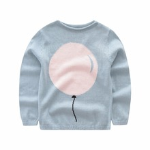 2017 New Baby girl Sweater kids boy cardigan Long Sleeve clothes 100% cotton pullover Cute Balloon pattern girls clothes autumn(China)