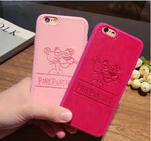 GIMFUN High Quality PU Leather Cute Cartoon dog Case for Iphone 7 7plus 6 6s 6plus Animals TPU Silicone Phone Case Back Cover