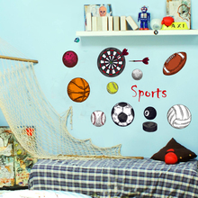 Zs Sticker Balls Sports Wall Stickers Wall Stickers for Kids Room Baby Kids Sticker Boys Decor Home Decor(China)