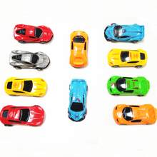 1pc New Baby Cute Mini Cars Classic Pull Back Toys Colorful Sports Car Model Birthday Funny Game Gifts Kids Toys for Children(China)