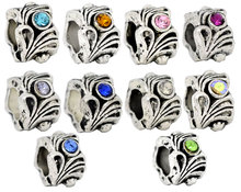 Buy DoreenBeads Mixed antique silver Rhinestone Flower Beads Fit European Charm 12x8mm,10PCs, 2015 New for $1.28 in AliExpress store