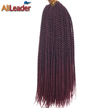 AliLeader 18 Inch 30 Strands Ombre Hair Extensions Braids Small Senegalese Twist Crochet Kanekalon Synthetic Hair For Braiding