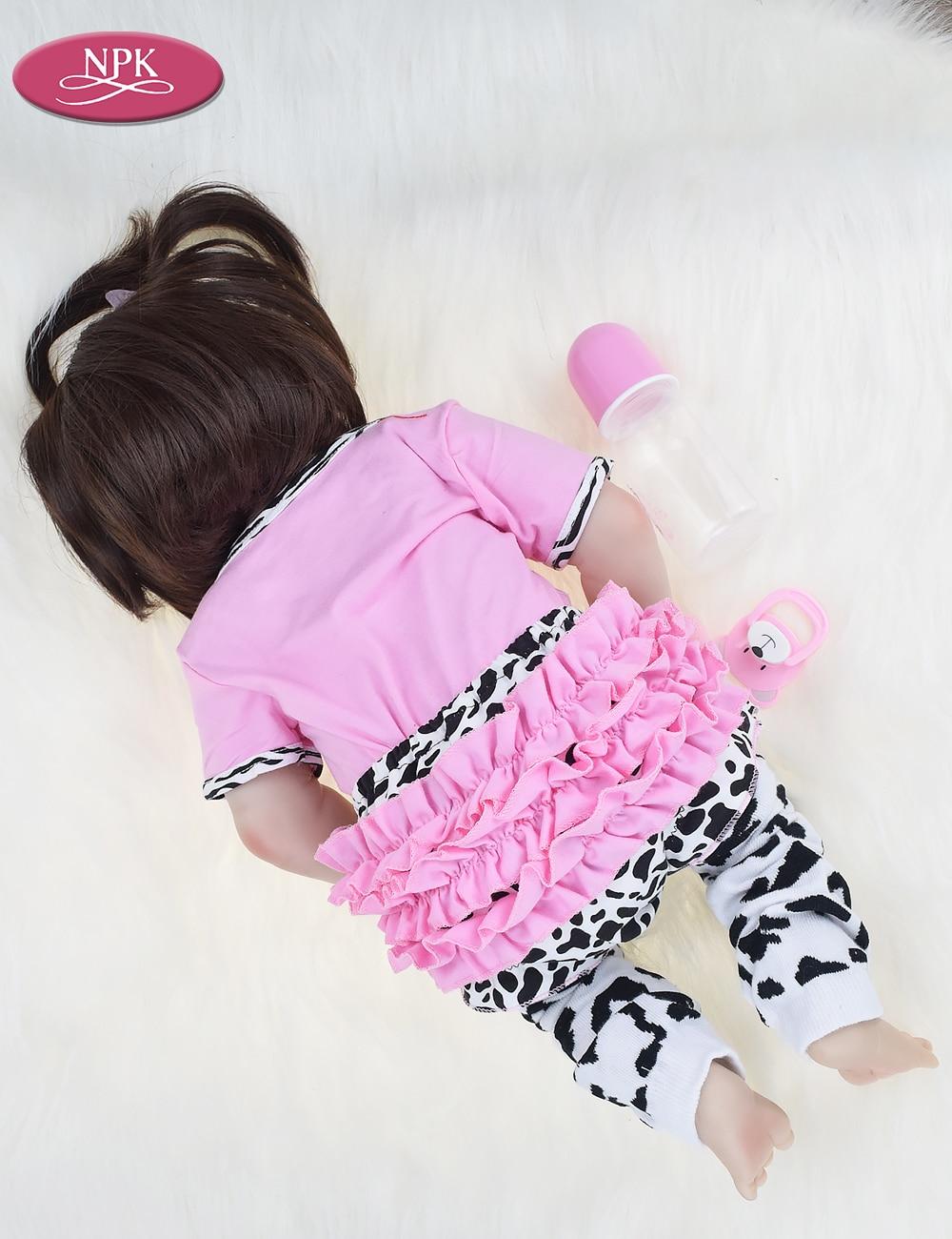 NPK Real 57CM Full Body SIlicone Girl Reborn Babies Doll Bath Toy Lifelike Newborn Princess Baby Doll Bonecas Bebe Reborn Menina (14)