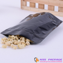 AISS-plastic bag packaging,zipper bag,black stand up bags,18x29cm,packaging for coffee,food saver,print packaging
