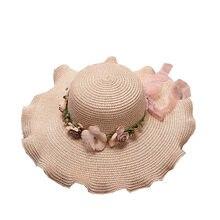 f4171f80f31db Trendzone 5 24 Senhora chapéu de sol caps Rodada Fita Flat Top chapéu de  Palha praia chapéus para mulheres chapéu de palha chapé.