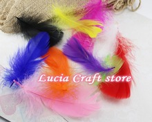 about 8-12cm DIY natural goose soft feathers Christmas decoration home accessories 100pcs/lot 077008(China)