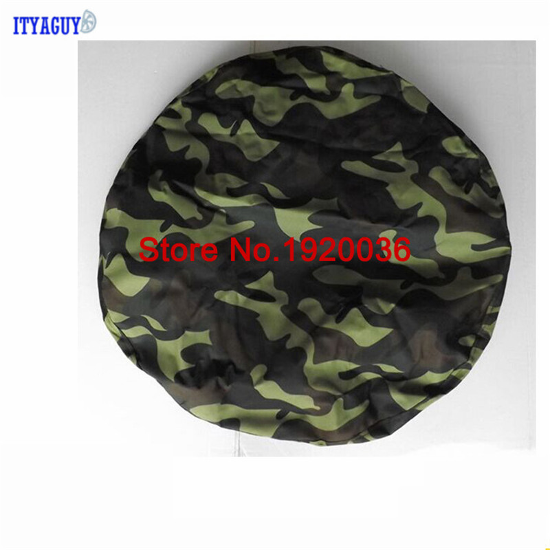"Car Accessories HIGH QUALITY! Camouflage color PU spare tire cover custom 14 ""15"" 16 ""17"" PVC spare wheel cover CY-89(China)"