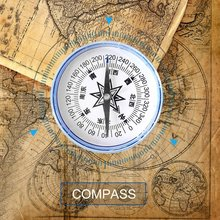 Professional Compass 100mm Large Handheld Compass for Outdoor Teaching Camping Hiking Navigation Military Army Geology Compass(China)