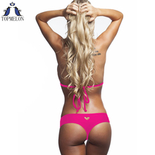 thong bikini swimwear women thong bathing suits swimsuit brazilian biquini 2016 cheap thong bikinis thong swimming suit(China)