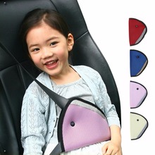 Triangle Baby Kids Car Safe Fit Seat Belt Adjuster Device Auto Safety Belt Cover Child Neck Protection Positioner Breathable(China)