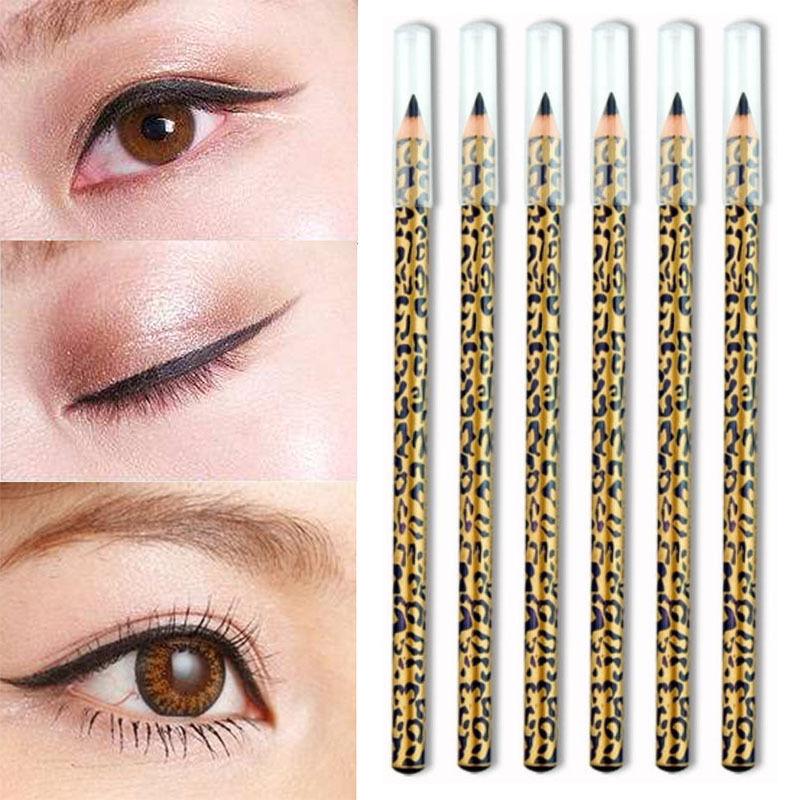Leopard eye makeup