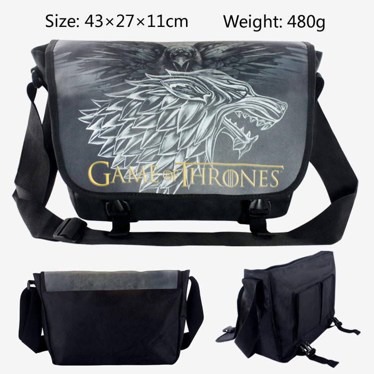 2018 Anime Game of Thrones Messenger Bag Cosplay Shoulder Travel Bag Canvas Handbag School Bags 43*27*11CM<br>