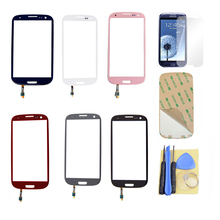 Black/White/Blue/Gray/Pink/red Outer LCD Touch Screen Lens Glass For Samsung Galaxy S3 i9300 i747