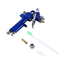 Blue Gravity Feed HVLP Mini Air Paint Spray Gun Low Pressure 0.8mm Nozzle 120ml