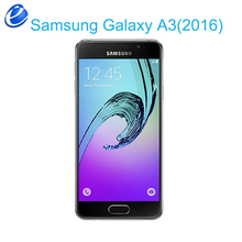 Original Samsung Galaxy A3 2016  A3100 dual sim LTE Mobile phone 4.7 inch Android Quad Core 2GB RAM 16.0MP GPS WIFI Cellphones