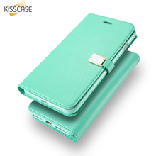 Buy KISSCASE Flip Case iPhone 5S 5C 4S case Candy Color Leather iphone 6 Cases iPhone 7 7 Plus Wallet Card Slot Case Cover for $4.24 in AliExpress store