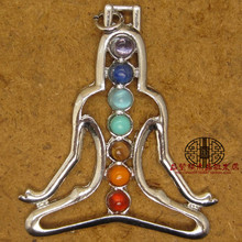 Place Of Origin Supply Of Goods Natural Crystal Pendeloque Cut Colorful Chakras Yoga One Pendant Originality Fashion Trendsetter