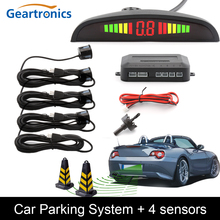 Buy Car Auto Parktronic LED Parking Sensor 4 Sensors Reverse Backup Car Parking Radar Monitor Detector System Backlight Display for $10.79 in AliExpress store