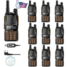 10x Baofeng GT-5 VHF/UHF 136-174/400-520MHz Dual Band  PTT FM Ham Two-way Radio double frequency Walkie Talkie Programming Cable