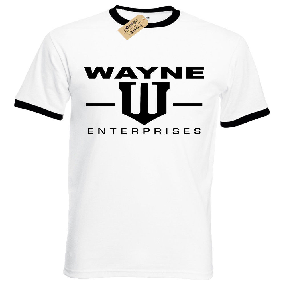WAYNE ENTERPRISES MENS T SHIRT DARK BAT BRUCE KNIGHT MAN GOTHAM TOP S 5XL