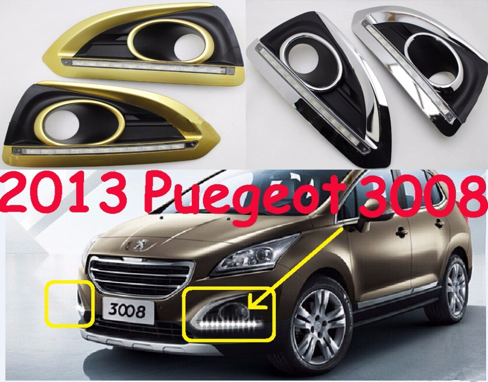 Peugeo 3008 daytime light;2009~2012, Free ship!LED,Peugeo 3008 fog light,2ps/set;Peugeo 3008<br>