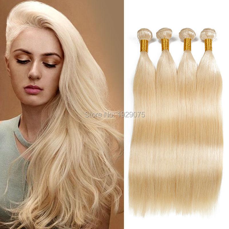 Russian Blonde Human Hair Extensions European Virgin Hair Straight Weave Platinum Blonde Weave Russian European Hair Extensions<br><br>Aliexpress