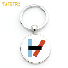 TAFREE Twenty One Pilots keychain Music Band fans men women Graphic pendant for key metal jewelry key holder H257(China)