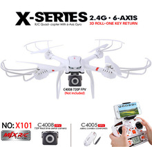 MJX X101 RC quadcopter Drone 2.4G 6-Axis Can Add C4005 C4008 WIFI Camera FPV ,3D Roll /CF Mode/ One-key Auto Return