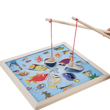 New Hot Magnetic Wooden Fishing Game Fun Novelty Toys Learning Education Toys Creative Gifts Presents for Children Kids